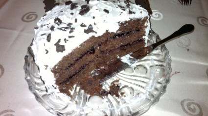"""Τούρτα-κέικ """"Χιονισμένα Έλατα"""""""